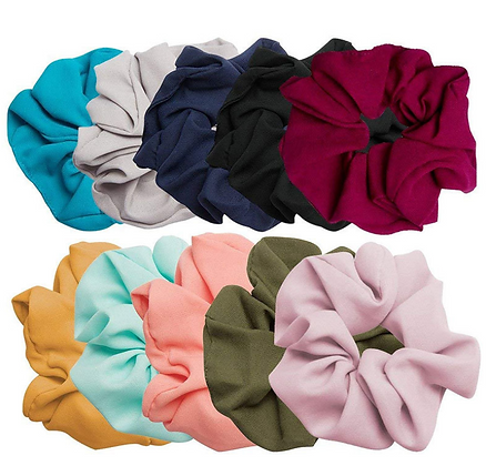 HISUM solid color scrunchies