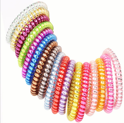 HISUM hair bobbles, spiral hair ties