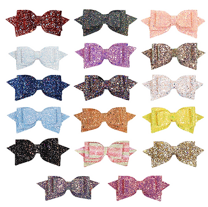HISUM Glitter Hair Bows Clips