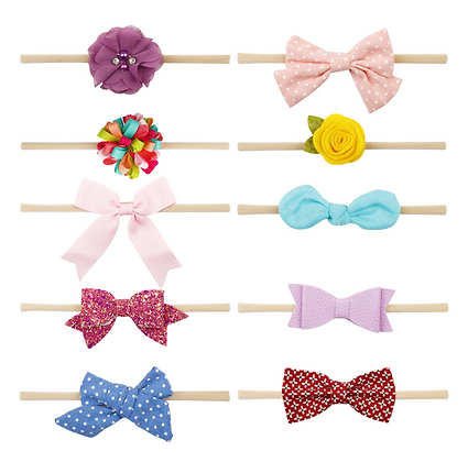 HISUM Elastic seamless Hair Bows