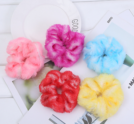 HISUM korean soft scrunchies