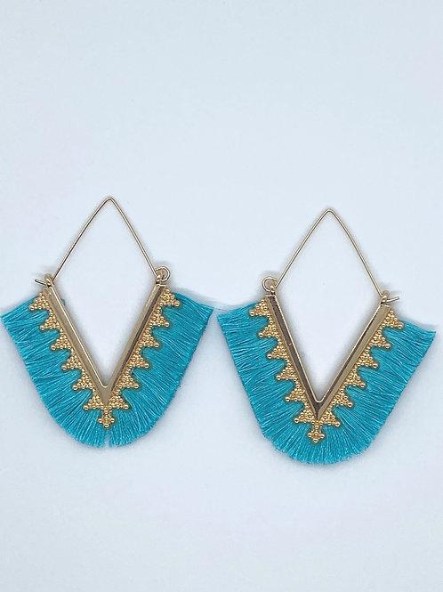 Trendy 14k gold plate earring