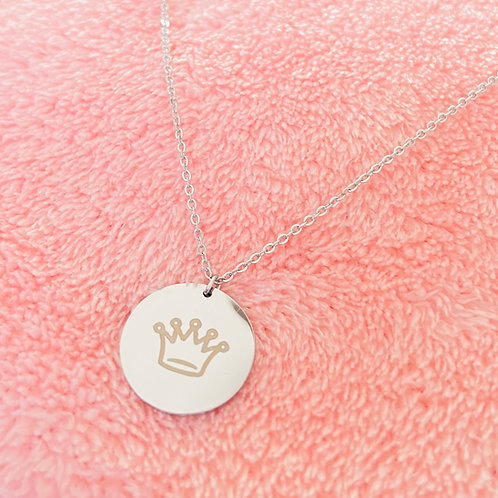 Stainless steel engraved necklace with pendant