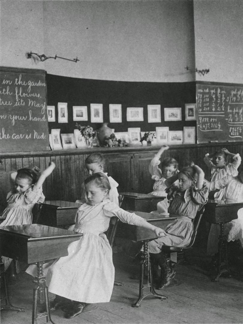 16_Schoolgirls Doing Calisthenics France