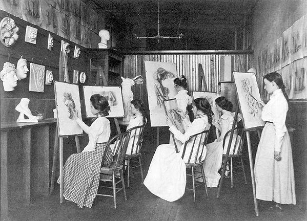 Frances-Benjamin-Johnston-6-girls-in-art