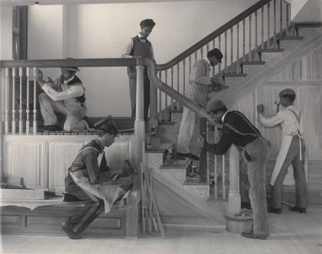 Frances-Benjamin-Johnston.-Stairway-of-t