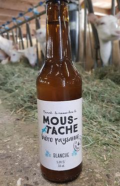 La moustache bière blanche