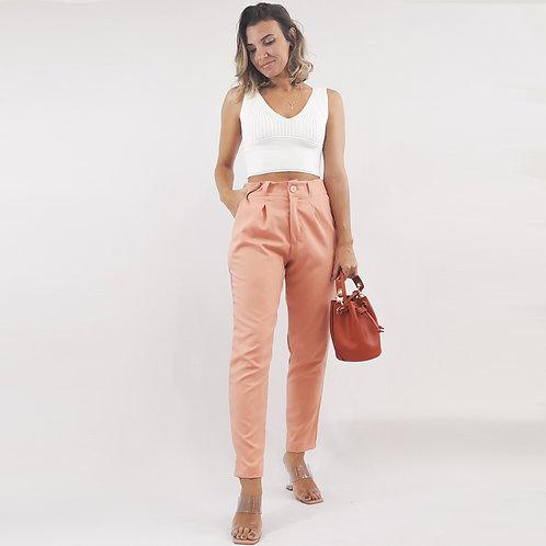 Calça Alfaiataria Color - Rosê