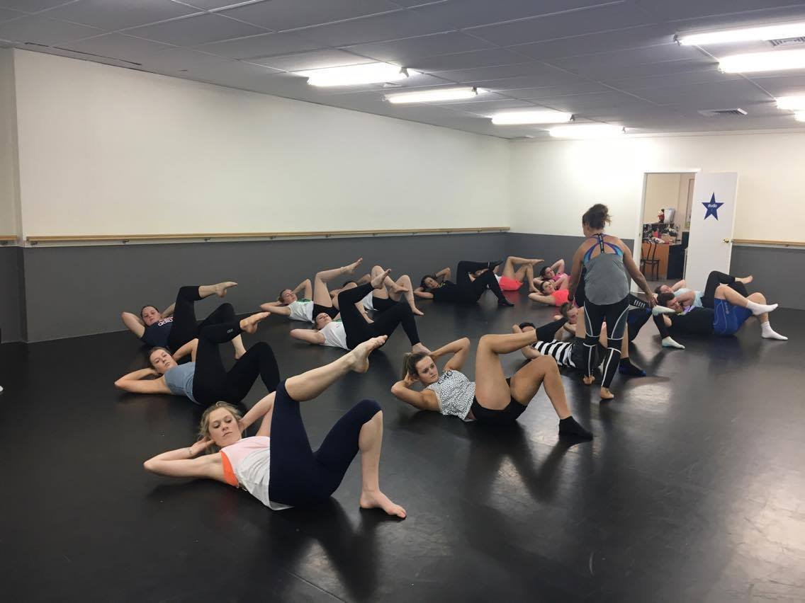 "Seniors ""barre"" class with Natalie"