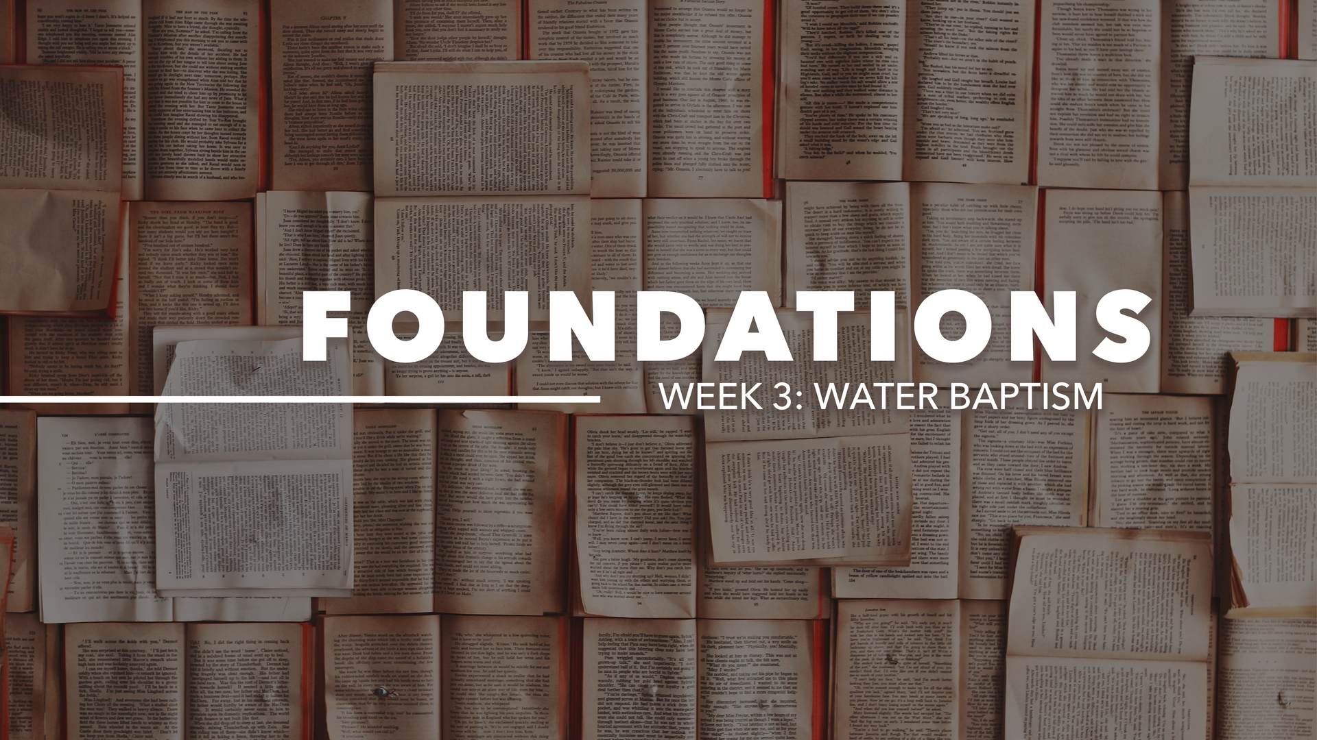 Foundations: Water Baptism