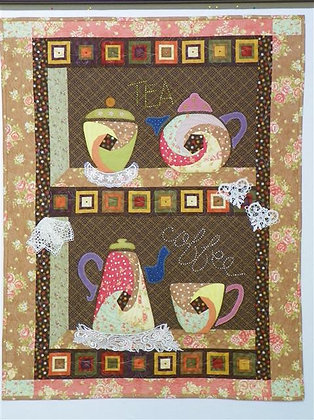 Coffee Time or Tea Time? Twisted Log Cabin Blocks