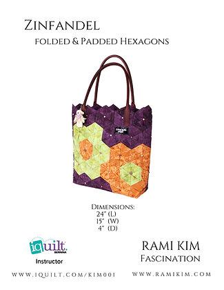 """""""Zinfandel"""" Hexagon Bag Pattern"""