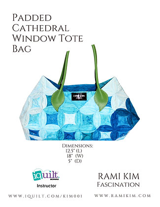 """Padded Cathedral Window Tote Bag"" Pattern"