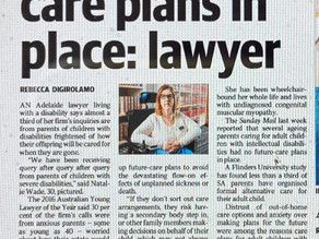 The Advertiser: Parents need care plans in place