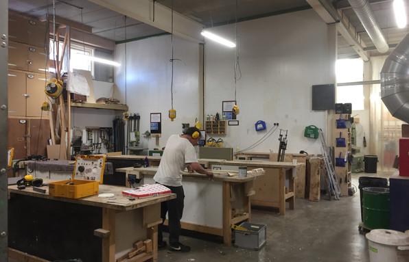 open-plan workshop