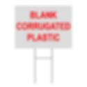 Blank Corrugated Plastic