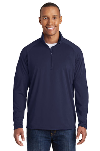 1/4 Zip Sweatshirt with Embroidered Left Chest