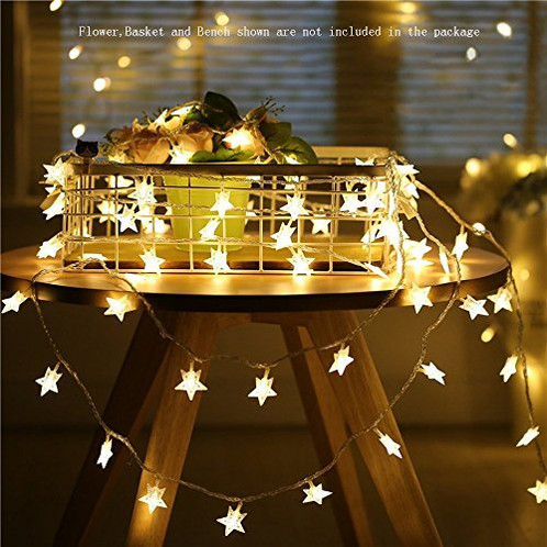 Star String Lights Battery Operated Led Le 50pcs Indoor Fairy Warm White For Patio Wedding Bedroom Princess Castle Play Tents