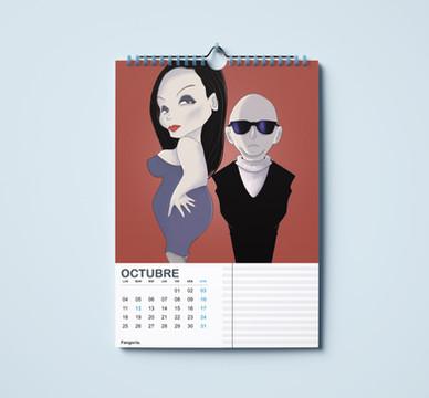 Calendario Pop- Octubre