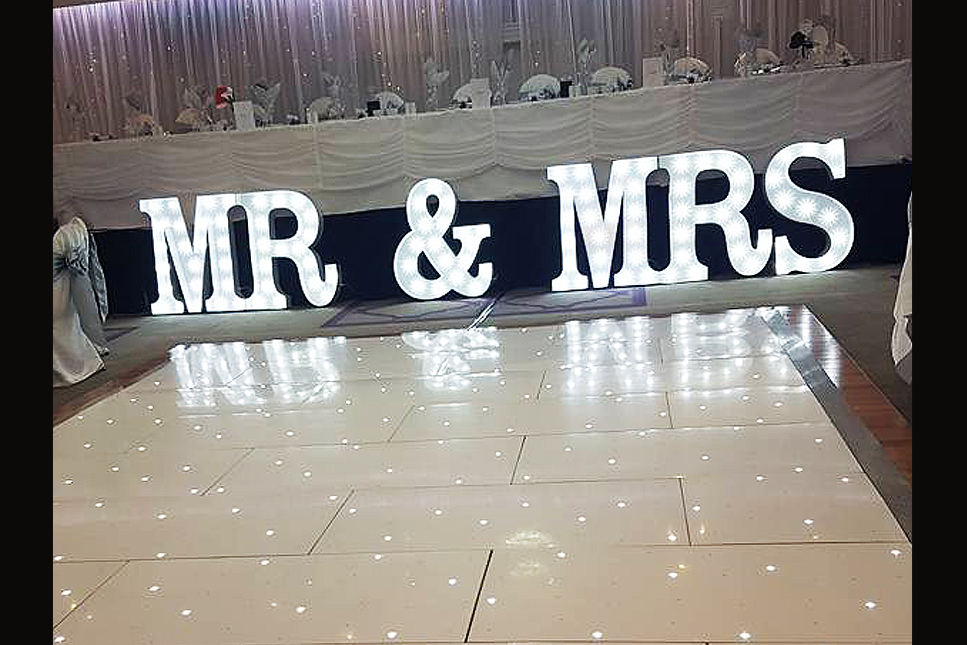 Starlight Dance Floor and Mr Mrs