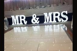 Starlight Dance Floor and Mr Mrs