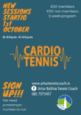Blue & Orange Cardio tennis October 2019