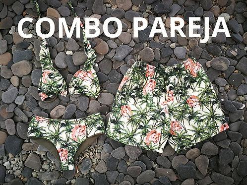 COMBO PAREJA:  Bikini + Pantaloneta