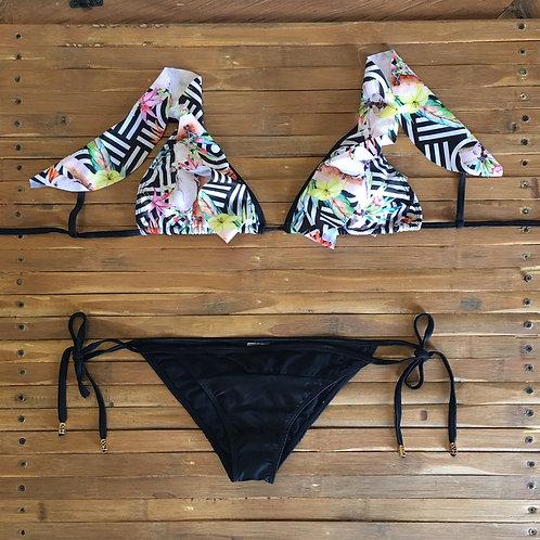 Bikini Estampado Flores Pajaros