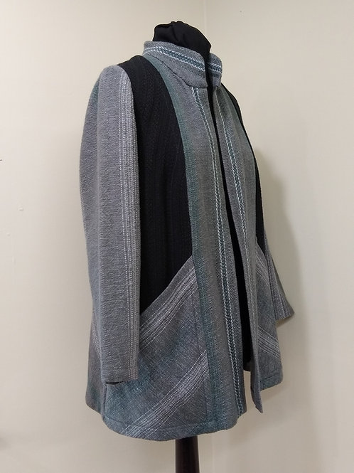 Grey and Black Block Coat