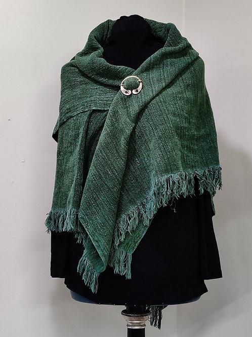 Green Chenille Shawl
