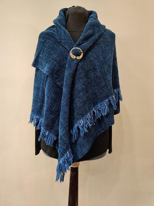 Nebula Blue Chenille Shawl