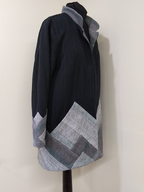 Men's Grey Black Mountain Coat