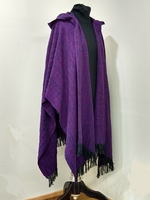 Dark Purple Ruana