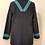 Thumbnail: Black and Turquoise Band Coat