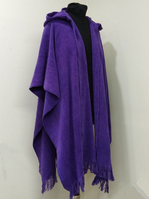 Purple Chenille Ruana