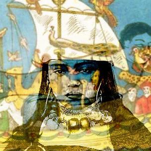 A Petite Fille Pirate Bleue