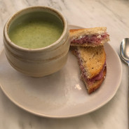 Terramizini with asparagus soup