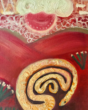 Basking Labyrinth Snake