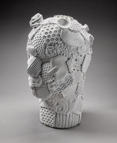 Lg Head in White #1