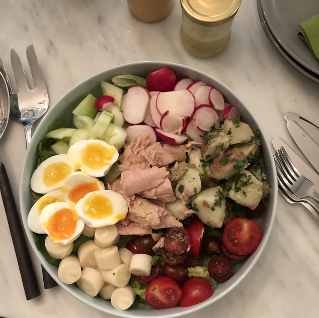 Nicoise with perfect eggs.