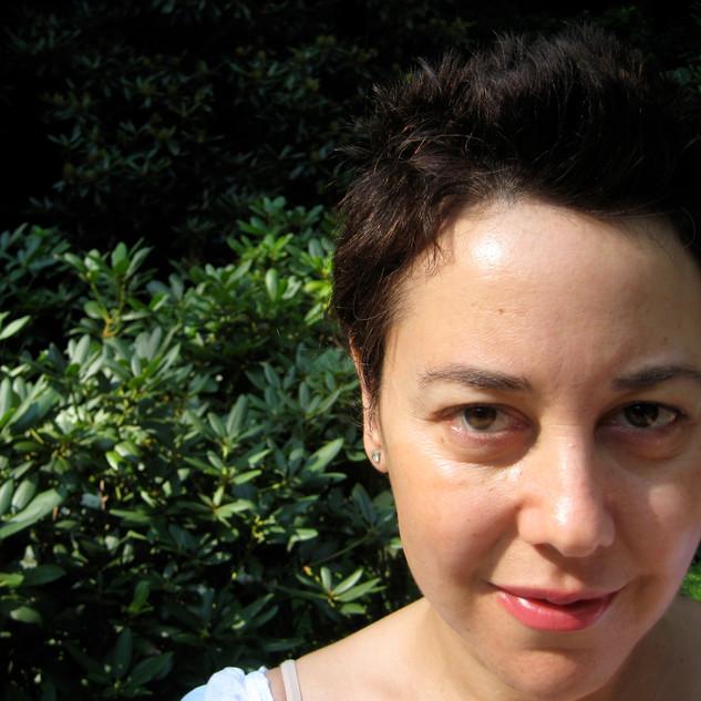 Self-portrait with mountain laurel