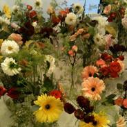 Wedding flowers, tables