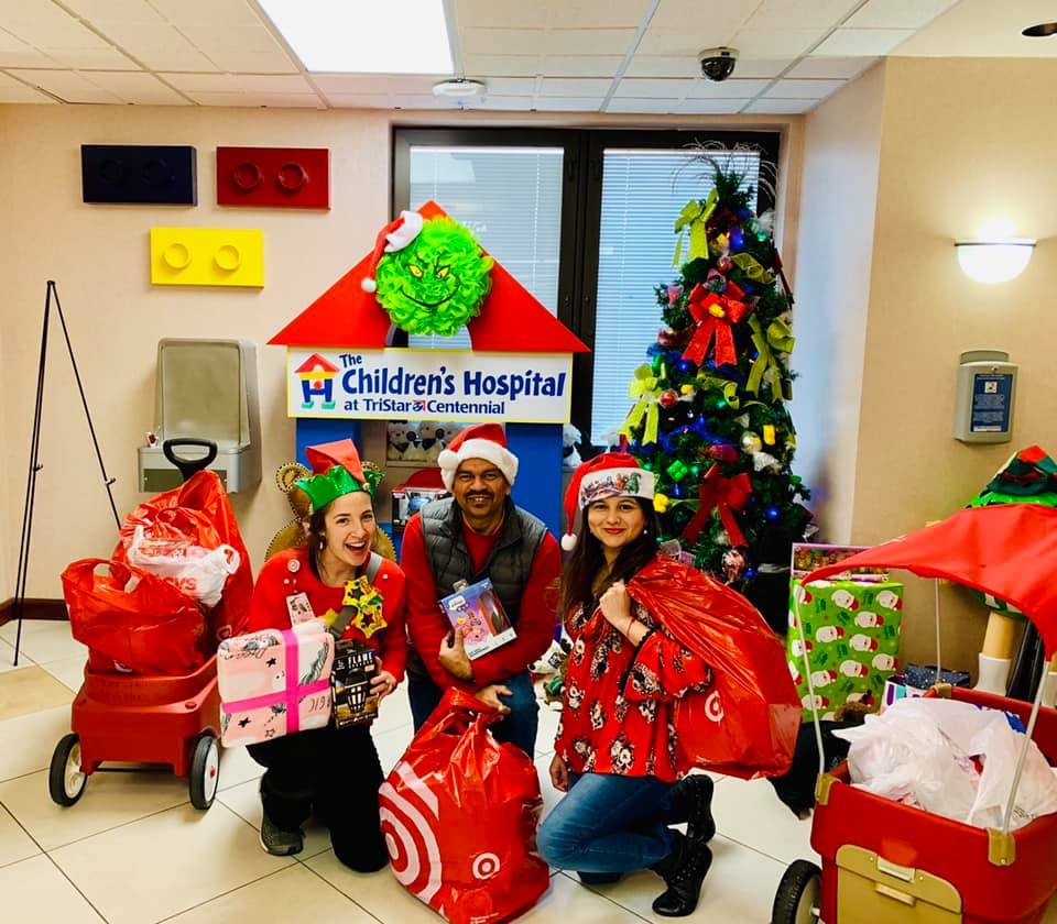 Santa at Children's hospital