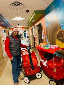 Santa at Children's hospital