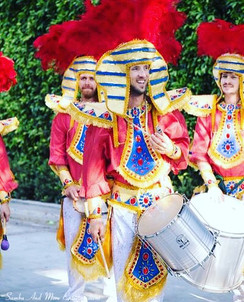 Samba drummers _ samba dancers