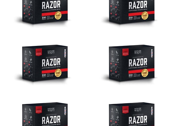 6 BOX HBS DISPOSABLE RAZOR For Barbershop combo