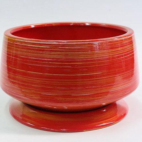陶瓷花盆-黑色款-B36