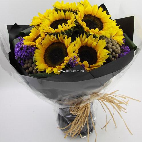 GB012-12支向日葵+襯花