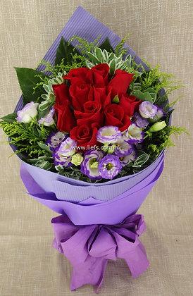 紅玫瑰-花束-87