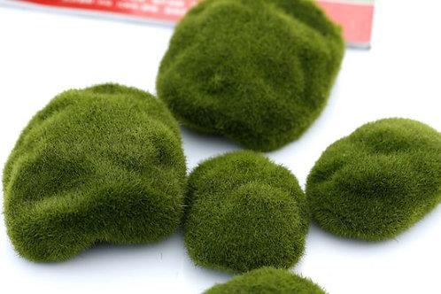 仿真草苔藓石頭-8cm